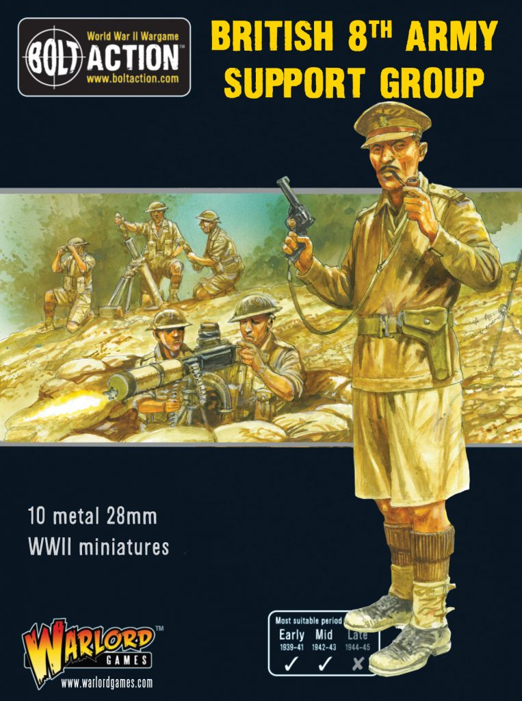 British 8th Army Support Group - Warlord Games