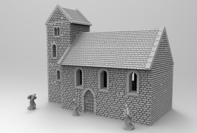 Church - 3D Print Terrain