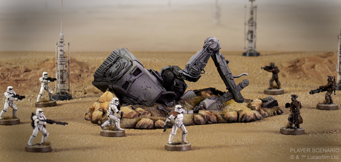 Downed AT-ST Terrain - FFG