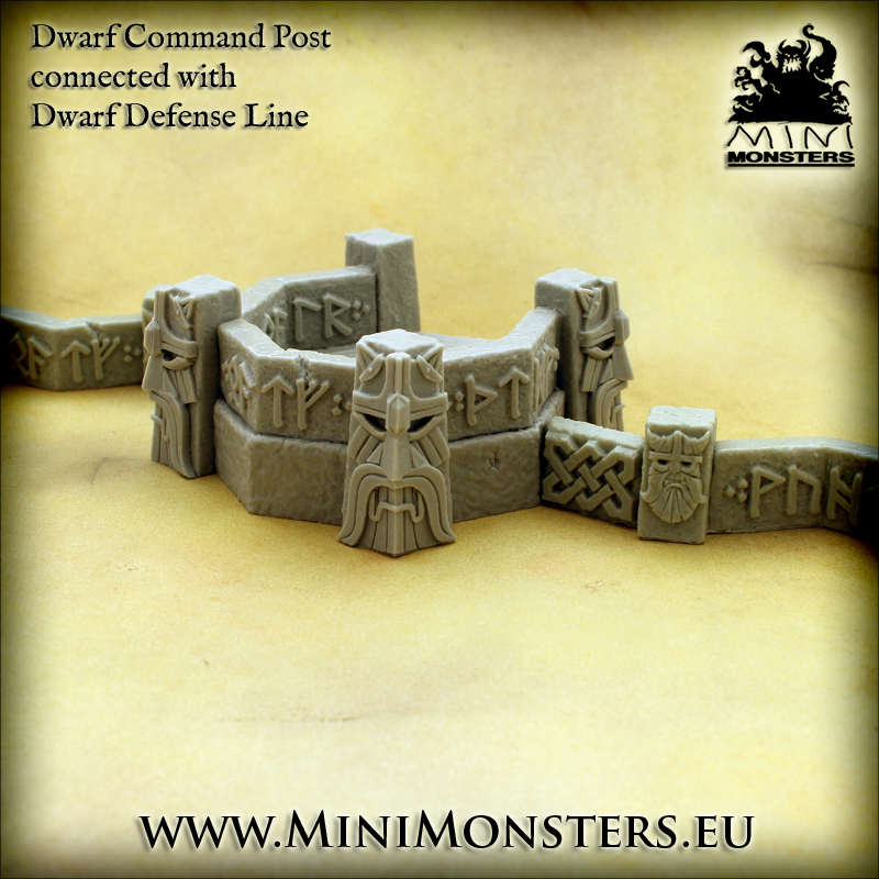 Dwarf Command Post With Walls - MiniMonsters