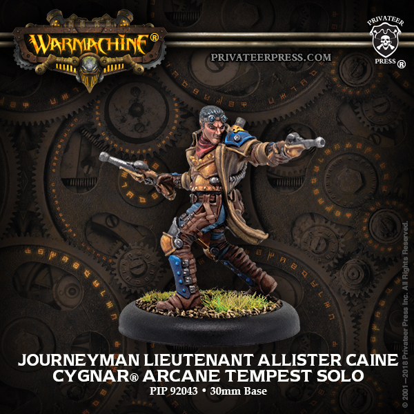 Journeyman Lieutenant Allister Caine - Warmachine