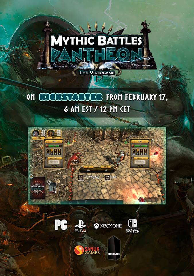 Mythic Battles Pantheon Video Game - Sanuk Games