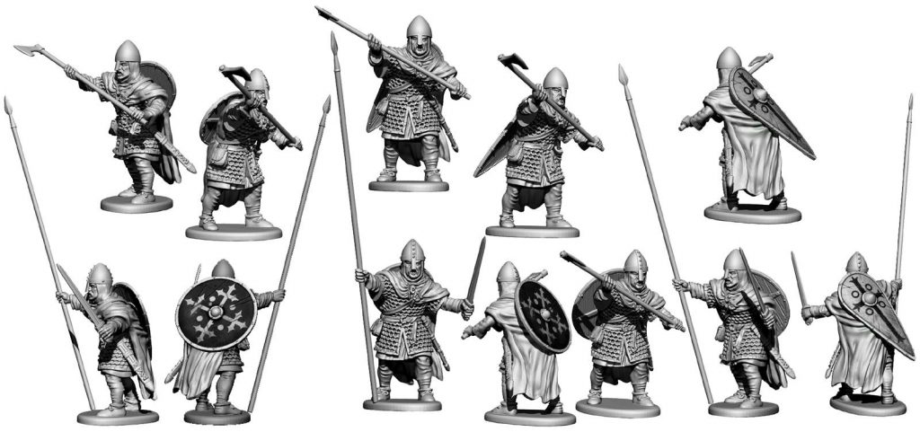 Saxon Armoured Banner Bearer - Victrix