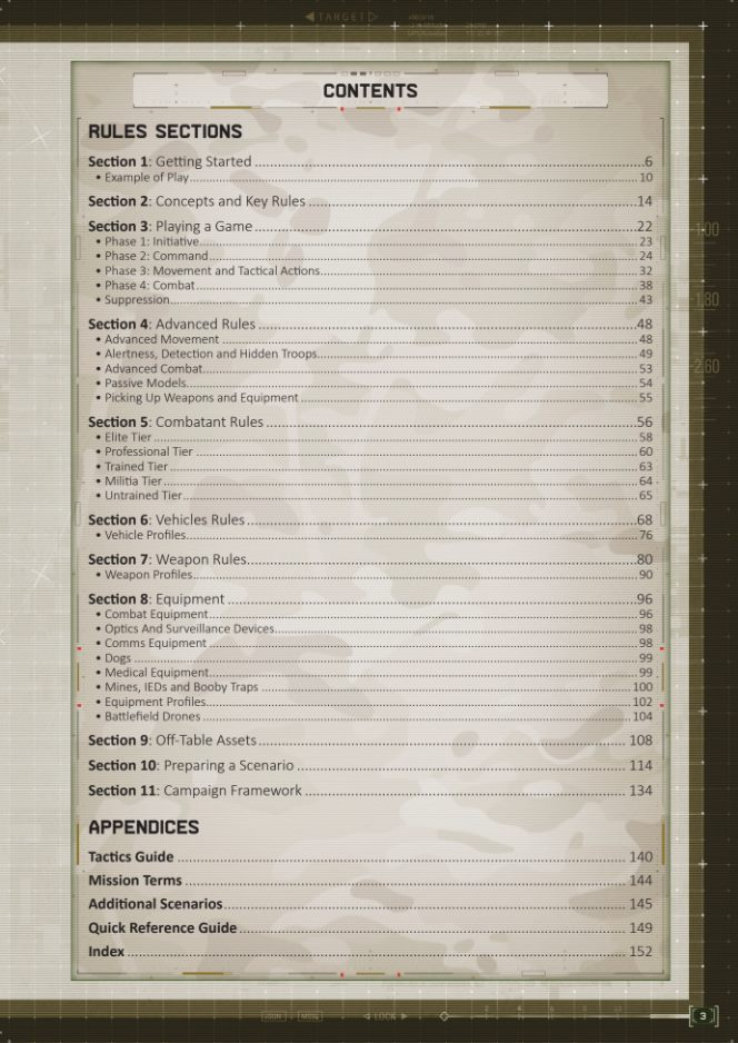 Spectre 2nd Edition (Contents) - Spectre Miniatures