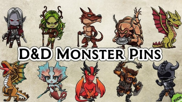 Cutesy Your Campaign With These Chibi D&D Monster Pins!