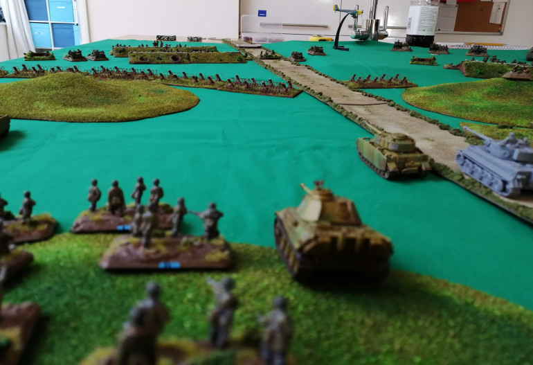 View from behind the Germans as they advance on the British lines