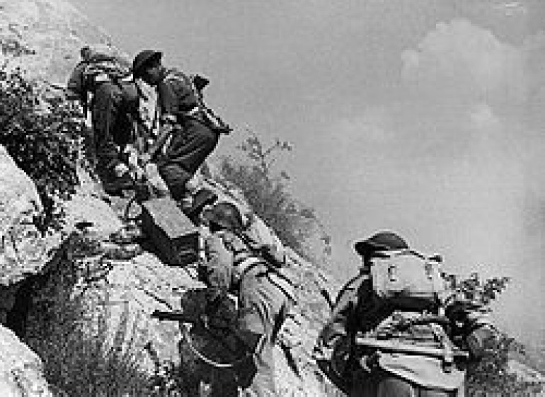 Getting supplies up to the ridge was problematic