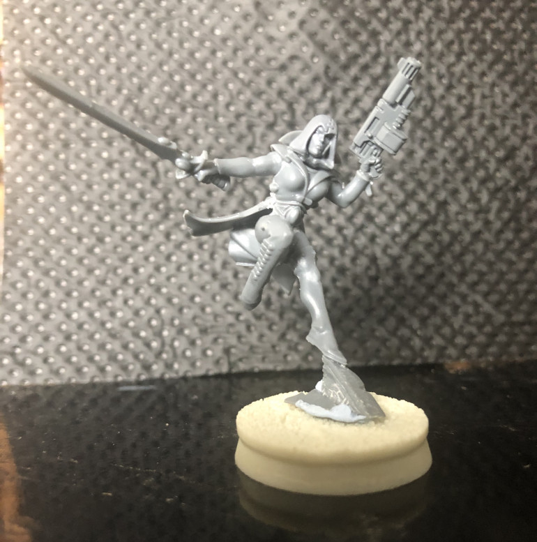 Converted from a Harlequin, might cut down the protrusion she's skipping off to lower the height.