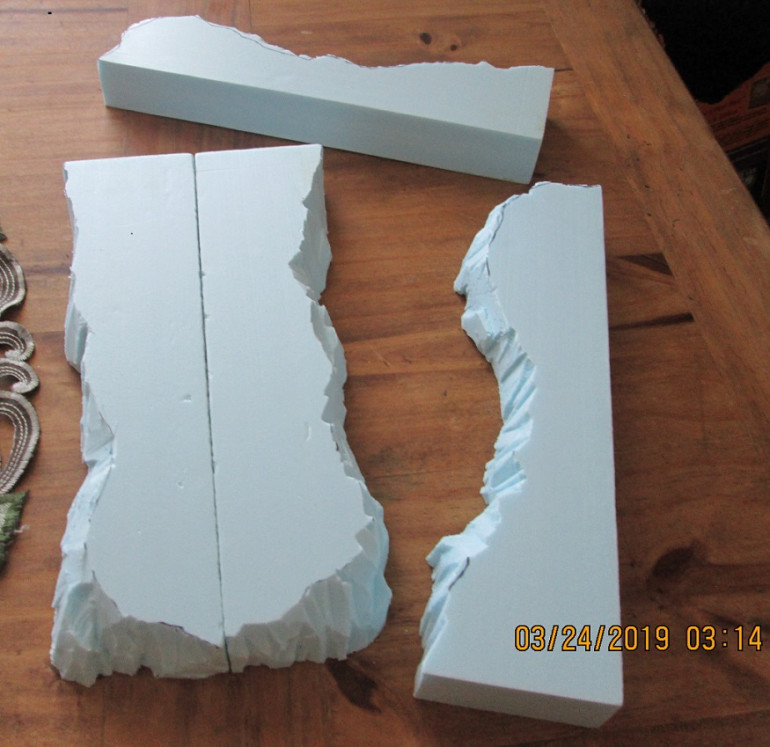 Vertical cuts are essential when building boards. Here are the four 'edge' pieces described earlier.