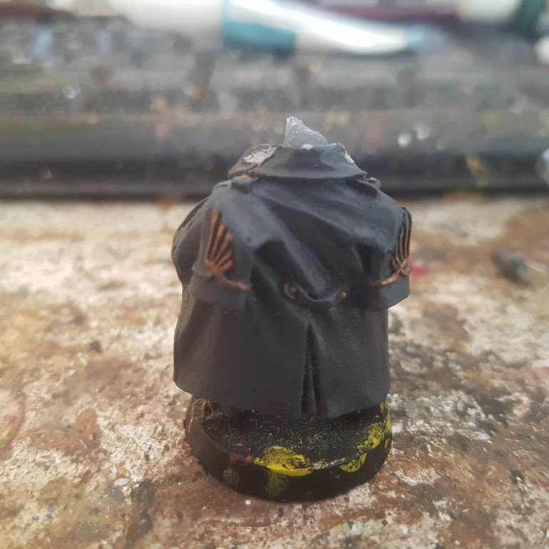 The Only Changes were to Replace the Sci Fi Pistol Grips with more Rounded Grips taken from Warlord Games Pike and Shotte Cavalry. The Head is a Roman Cavalry Helmet Taken from Warlord Games Romans. All the Imperial Symbols were Removed where Possible.