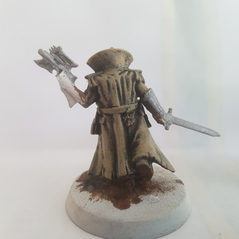 Painted with a 50/50 Mix of Army Painter Desert Yellow and Army Painter Matt White