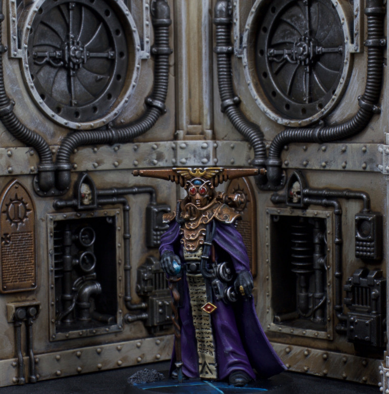 Espern Poses for a Pict Capture before venturing back to the Blackstone Fortress