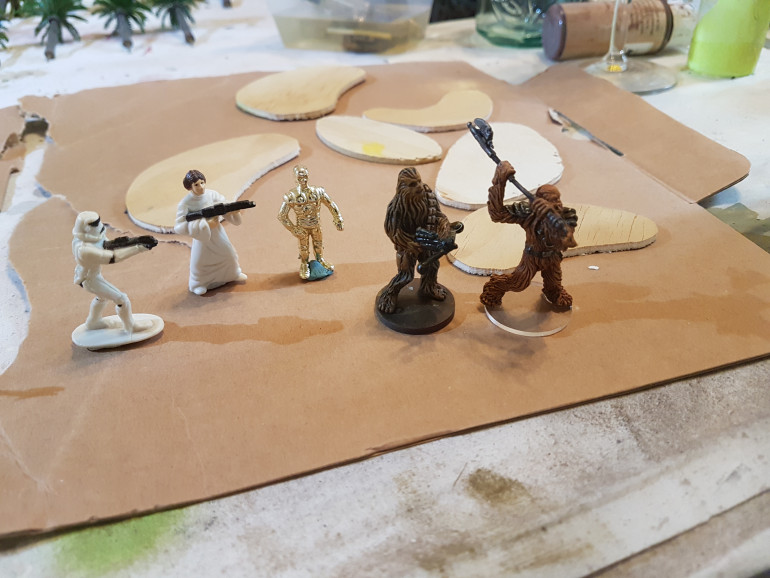 Is it right to over piant a few Kinder Suprise starwars figures from 1997 as cheap stand ins for the even cheaper cardboard tokens suplied in the base Imperial Assault box?