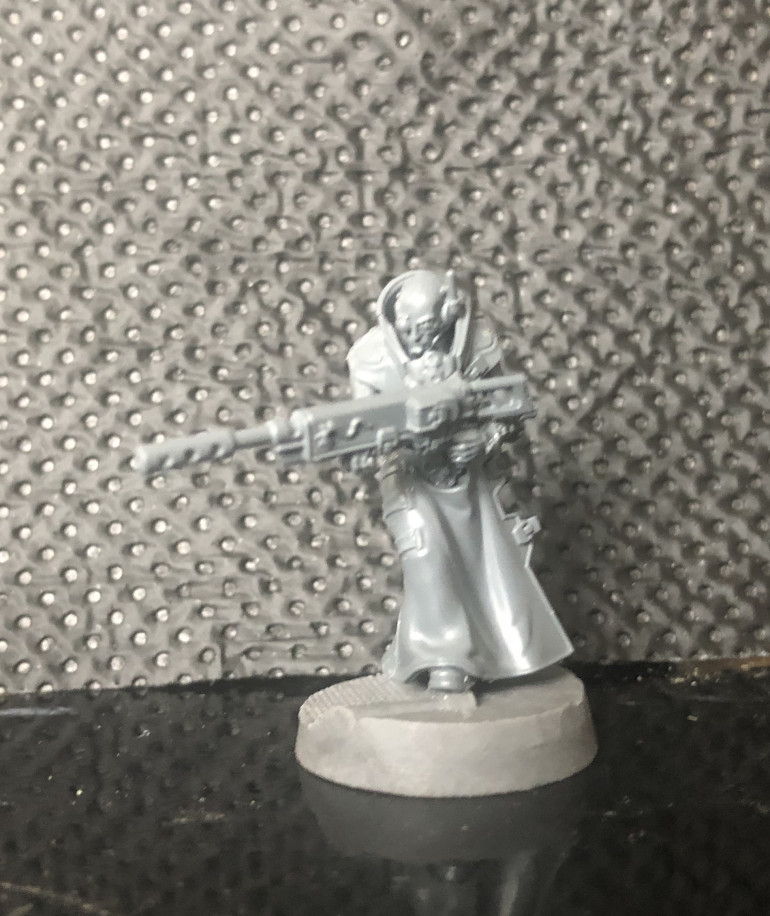 Converted to be carrying the Long rifle rather than having it slung on his back.