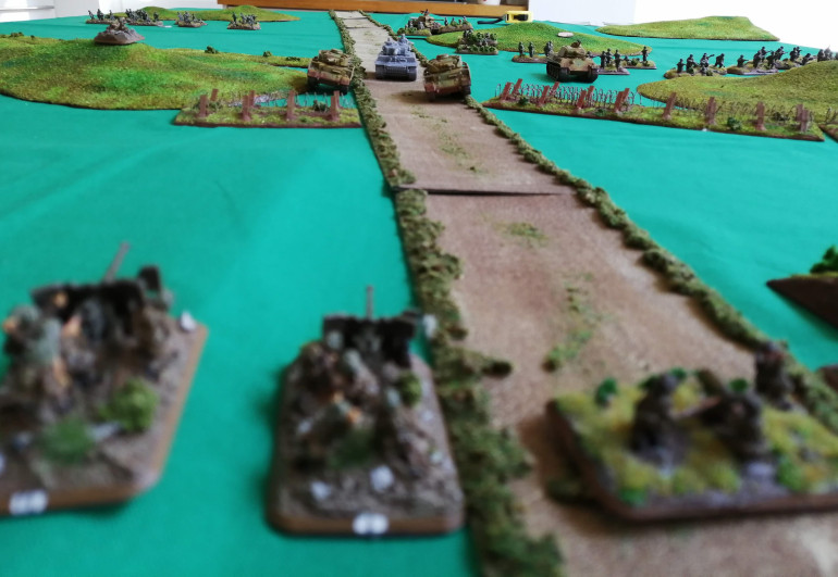 The 6pdr stare down the Via Anziate at the advancing Tiger