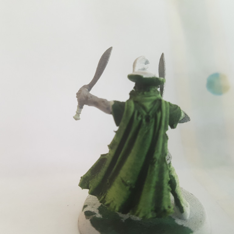 Painted with a 50/50 Mix of Citadel Moot Green and Army Painter Matt White