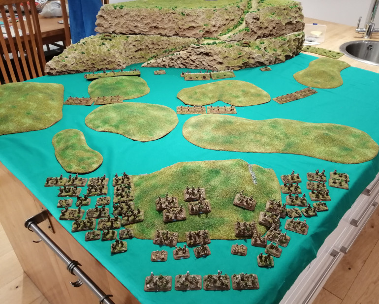 View of the battlefield just before the assault is launched