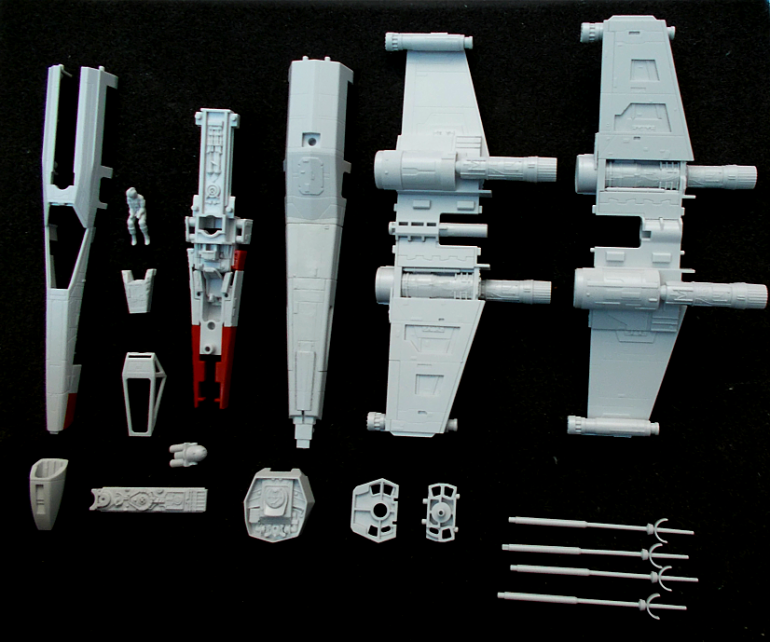 Red 2 X-wing model in 1/72 scale from Bandai - Part 1