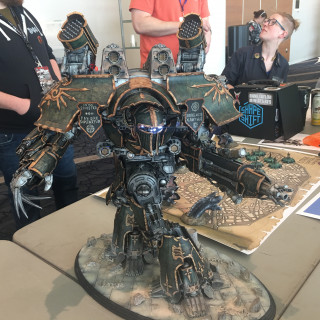 The Adeptus Titanicus: Hammer to Fall event is rumbling along as titans destroy each other for control of the forge hive districts.