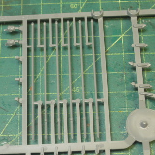 Making Jumonji Yari using spare bits from my Ashigaru plastic sprues.