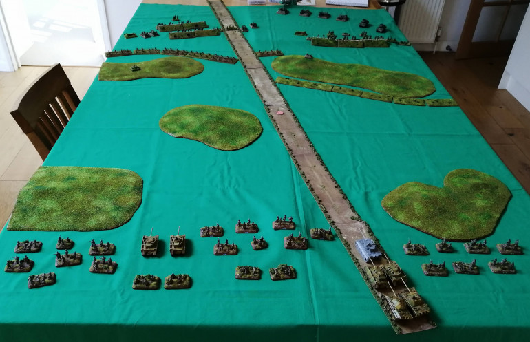 The total Battlefield looking from the German end of the table