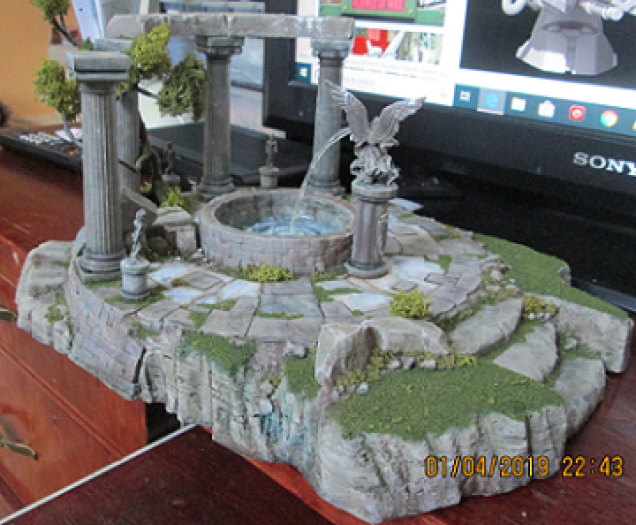 The first scatter terrain piece. It was a testbed for concepts and materials.