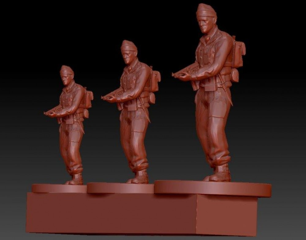 Developing WWII infantry for 3D printing