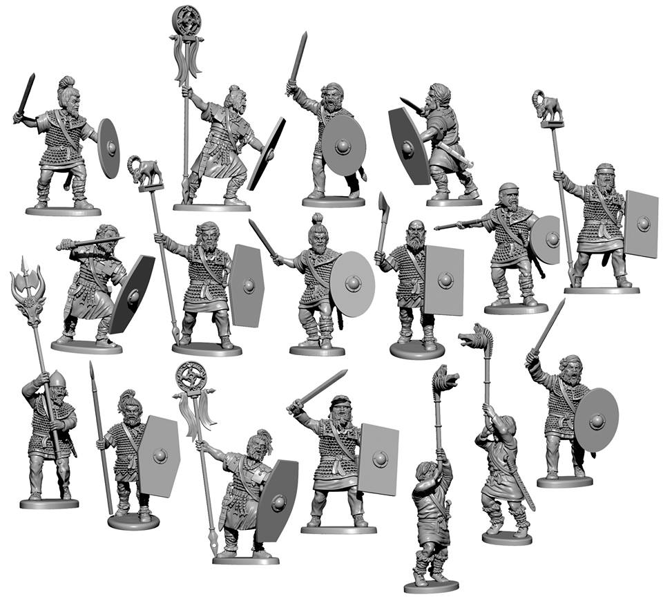Dacian & Germanic Warriors (Alt) - Victrix