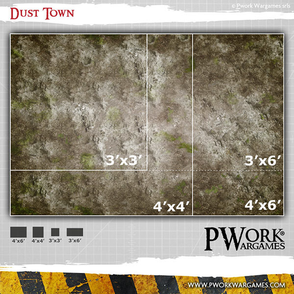 Dust Town Game Mat #2 - PWork Wargames