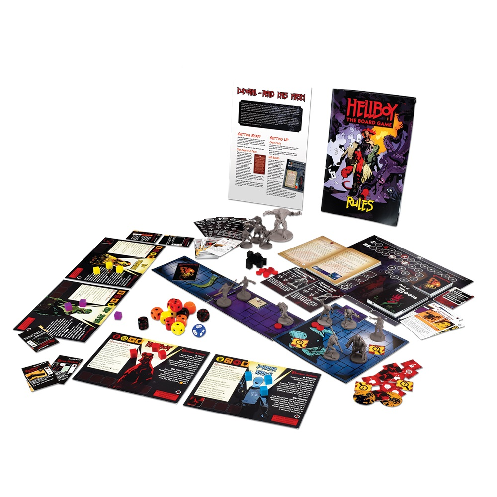 Hellboy The Board Game (Contents) - Mantic Games