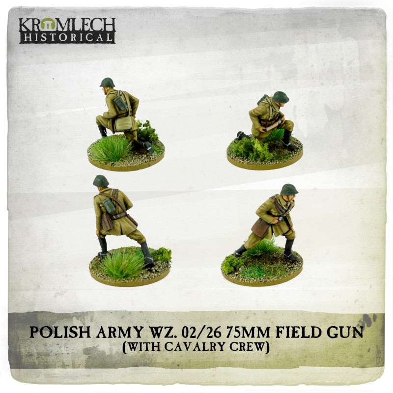 Polish Army WZ 02-26 75mm Field Gun Crew - Kromlech