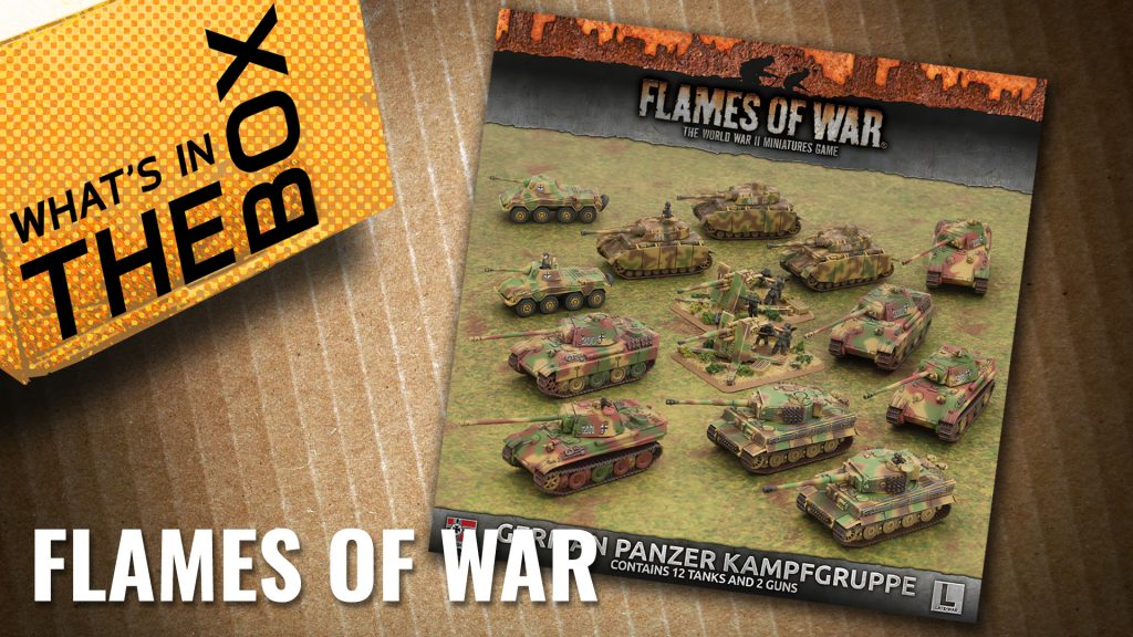 Flames of War Unboxing: Panzer Kampfgruppe