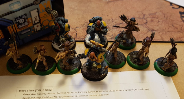 Tharn Bloodtrackers standing in for Blood Claws