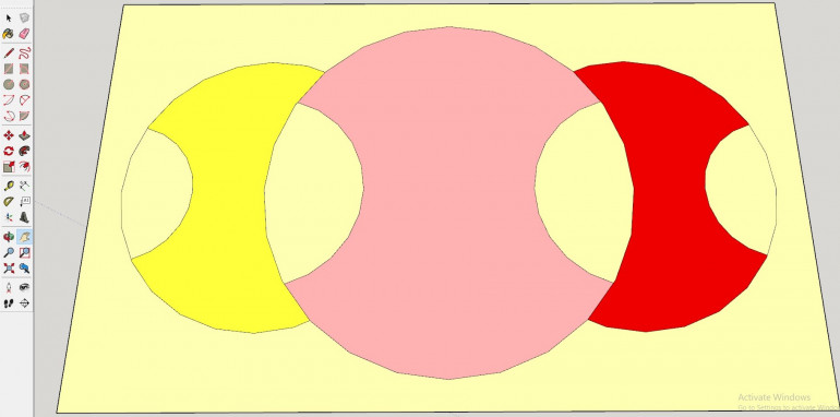 The Brigade Flag. The Central Circle is the Classification of the Brigade. The Outside Circles Represent Attachetted Units. The Semi Circles Show the Tribe of the Units, Tribes are Very Rarely Mixed at the Brigade Level.