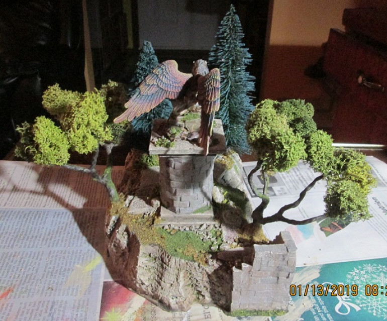 Rear view of the copse. There's plenty of real estate to put miniatures on.