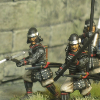 10 bodyguards for Uesugi are painted.