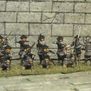 The last of the arquebus are finished.