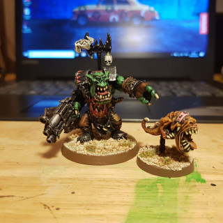Warboss and pet..