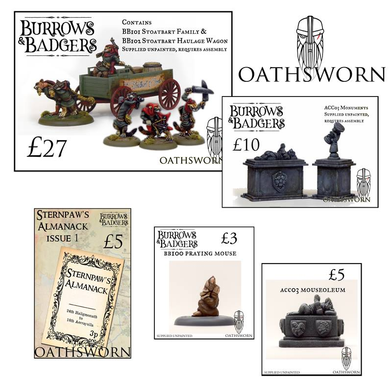 Burrows & Badgers Salute - Oathsworn Miniatures