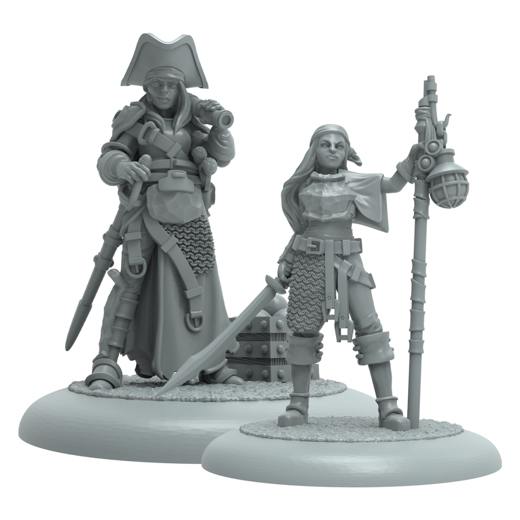 Culverin The Silver Admiral & Cutlass Sly Privateer - Steamforged Games