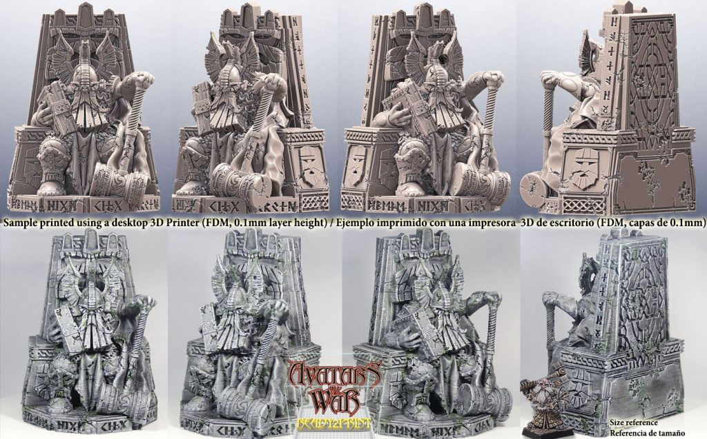 Dwarf King Statue - Avatars Of War