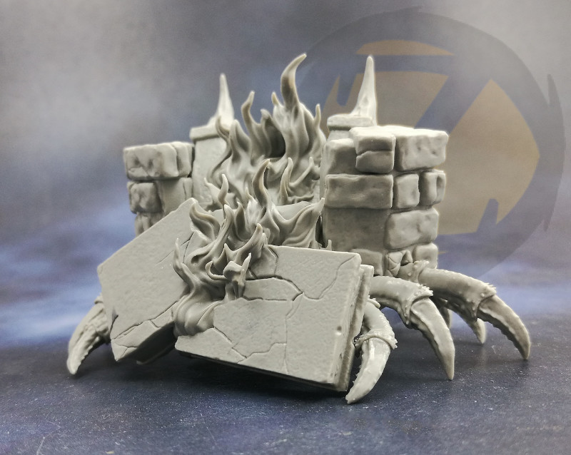 Fireplace Mimic (Rear) - Zealot Miniatures
