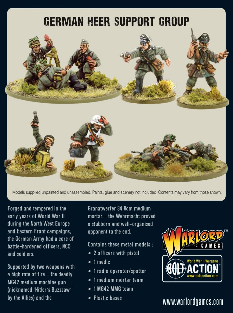 German Heer Support Group - Warlord Games