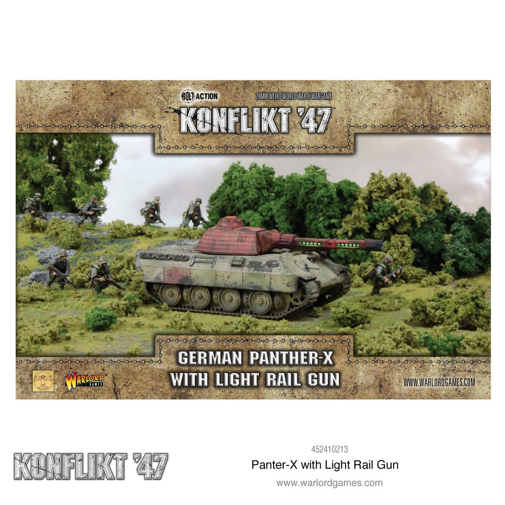 German Panther X With Light Rail Gun - Warlord Games