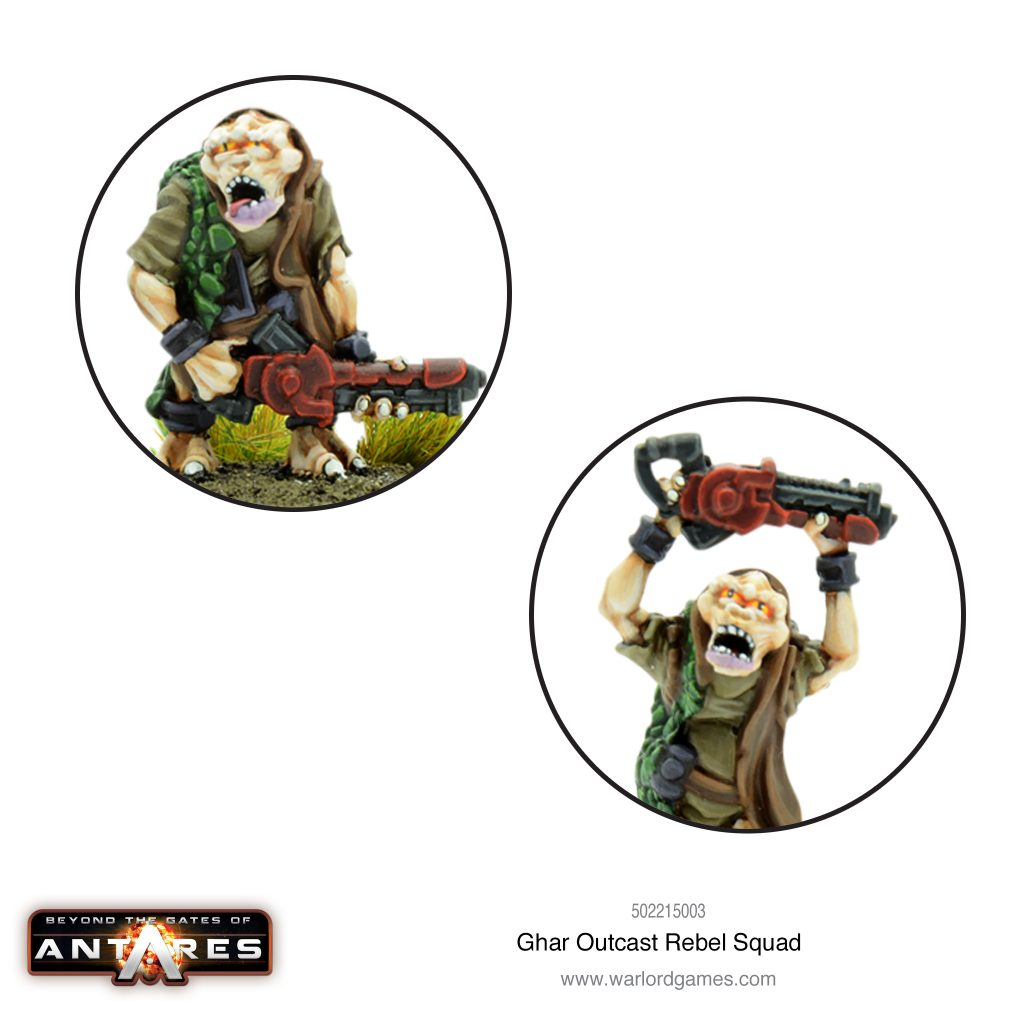Ghar Outcast Rebel Squad (Close) - Warlord Games