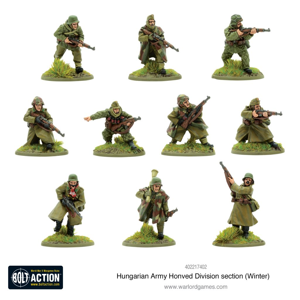 Hungarian Army Honved Division Section (Winter) - Warlord Games
