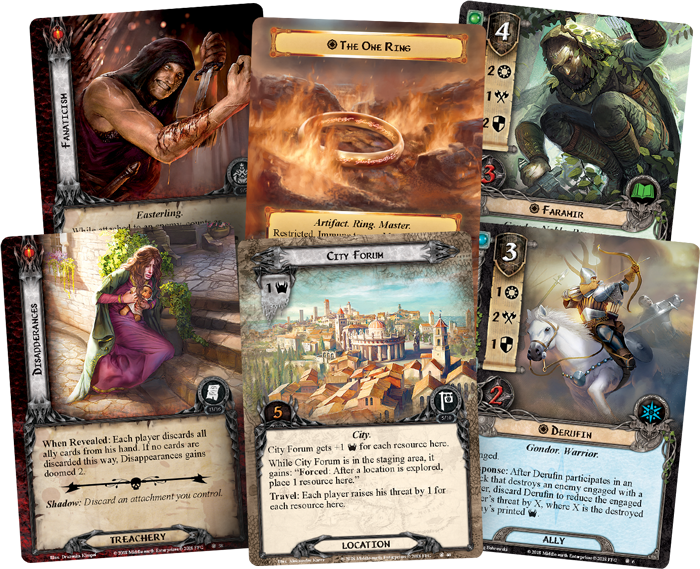 Lord Of The Rings LCG A Shadow In The East (Card Fan) - FFG
