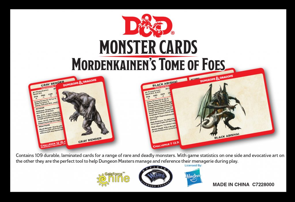 Mordenkainen's Tome Of Foes Card Preview - Gale Force Nine