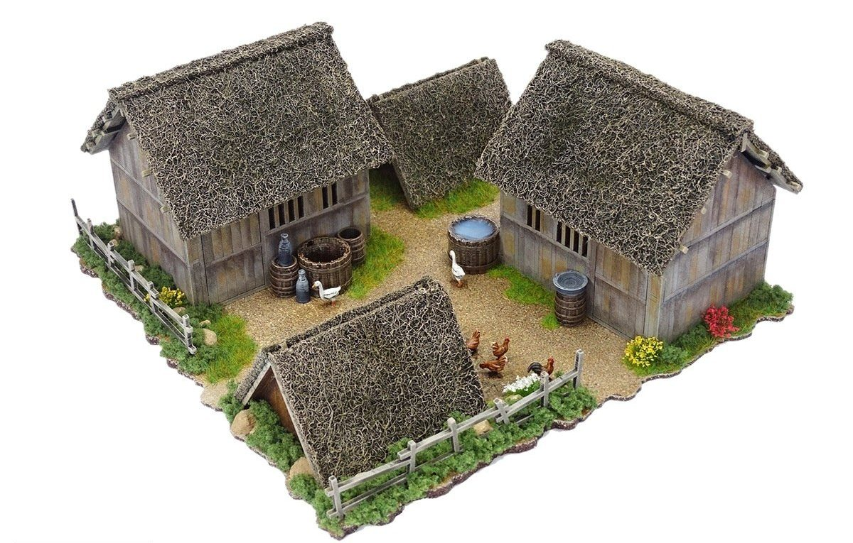 Mountain Village Hovel & Animal Shelter Set - Sarissa Precision