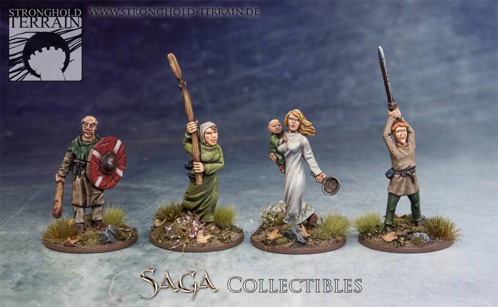 SAGA Civilians #1 - Stronghold Terrain